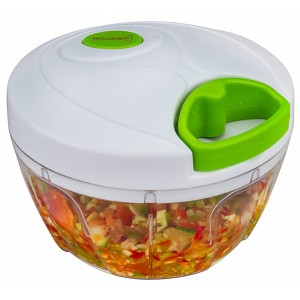Brieftons Manual Food Chopper Compact & Powerful Hand Held Vegetable Chopper Mincer Blender to Chop Fruits, Vegetables, Nuts, Herbs, Onions, Garlics for Salsa, Salad, Pesto, Coleslaw, Puree