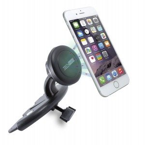 Car Mount TechMatte MagGrip CD Slot Magnetic Universal Car Mount Holder for Smartphones including iPhone 6, 6S, Galaxy S6, S6 Edge - Black