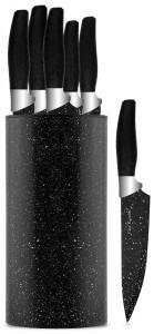 Chef Essential 7 Piece Knife Block Set, NEC Series, Black