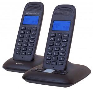 Emerson EM7120-2 Dect_6.0 2-Handset 4-Line Landline Telephone, Black
