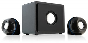 GPX HT12B 2.1 Channel Home Theater Speaker System (Black,3)