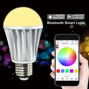MagicLight® Bluetooth Smart LED Light Bulb - Smartphone Controlled Dimmable Multicolored Color Changing Lights - Works with iPhone, iPad, Android Phone and Tablet - 7W