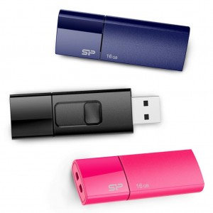Silicon Power 16GB 3-Pack Ultima U05 USB 2.0 Flash Drive, BluePinkBlack (SP048GBUF2U05VCM)