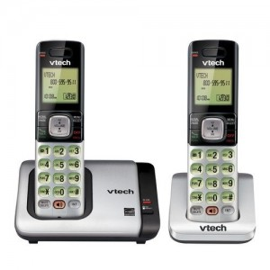 VTech CS6719-2 DECT 6.0 Phone with Caller IDCall Waiting, SilverBlack with 2 Cordless Handsets