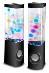 Lightahead New ATake 2-in-1 Water Jelly Colorful Music Fountain Water Dancing Speaker Enhanced quality & features Marketed by Lightahead® (Black)