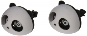 uxcell® 2 Pcs Black White Panda Shaped Car Air Freshener Perfume w Two Clips