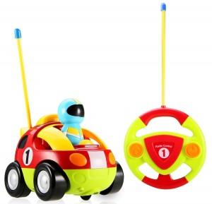 Holy Stone RC Cartoon Race Car with Action Figure