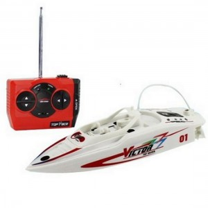 SGS® Waterproof Mini Rechargeable Remote Control Rc Racing Boat Toy (Colors May Vary)