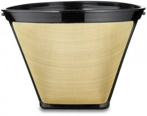 2 Pack Gold Tone #2 Permanent Cone Coffee Filter
