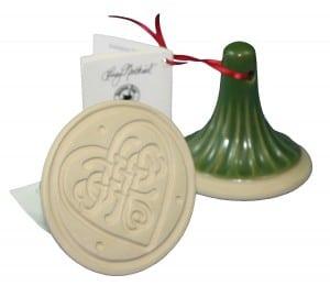 Celtic Heart Handled Ceramic Cookie Stamp or Press