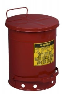 Justrite 09300; Galvanized-steel; Safety cans