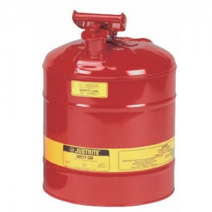 Justrite 7150100 Type I Galvanized Steel Flammables Safety Can