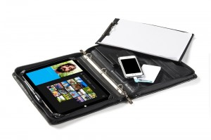 Professional 3-Ring Binder Padfolio with Mobile Power Cell