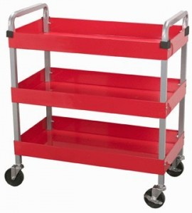 U.S. General 16 x 30 Three Shelf Service Cart
