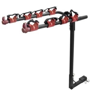 Best Choice Products SKY325 Bike Rack (4 Bicycle Hitch Mount Carrier Car Truck Auto 4 Bikes New)