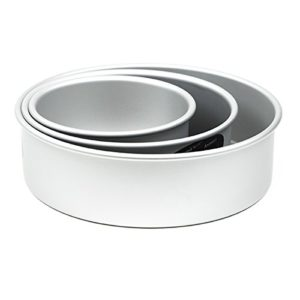 Cake Pan Set of 3, Round 3 Inches (6, 8 10) by Fat Daddio's