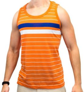 Enimay Men's Summer Hulk Stripe Beach Tank Slim Fit Muscle Shirt (Many Colors)