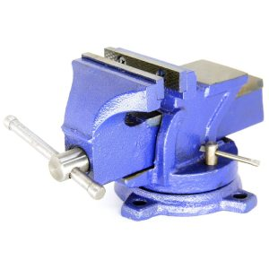 HFS (TM) Brand 5 Heavyduty Bench Vise Anvil Forged.360 Swivel Locking Base Desktop Clamp (16LBS) , HFS Blue Design