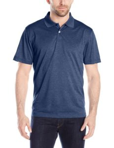 Haggar Men's Short-Sleeve Marled Polo Shirt, London Blue Marl, Medium , London Blue Marl, Medium