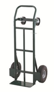 Harper Trucks 700 lb Capacity Super-Steel Convertible Hand Truck, Dual Purpose 2 Wheel Dolly and 4 Wheel Cart with 10 Pneumatic Wheels