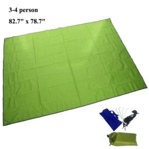 JTENG 82.7 x 78.7 inch Outdoor Waterproof Sunproof Camping Shelter Tent Tarp Footprint Groundsheet Blanket Mat