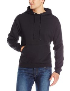Jerzees Men's Black Adult Pullover Hooded Sweatshirt