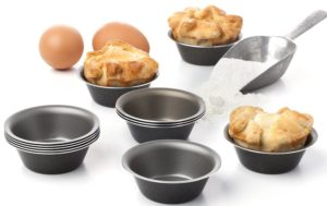 Maxi Nature Pack of 12 Mini Pie Muffin Cupcake Pans Bakeware - 3.1 Inch Tins - 12 Molds NonStick Black bakeware