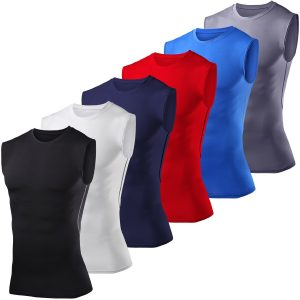 Men's Boys PowerLayer Compression Base Layer Top Sleeveless Vest Thermal Under Shirt