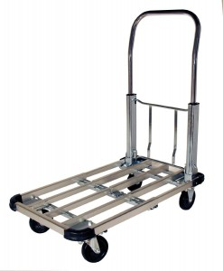 RWM Casters PT-CA Steel Folding Handle Platform Trucks, 330 lbs Capacity, 28 Length x 16 Width x 32-12 Height
