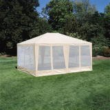 Sun-Mart Deluxe Screen House, Party Tent 15x12ft Beige