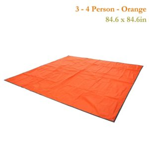 Weanas® 2-3-4 Person Outdoor Thickened Oxford Fabric Camping Shelter Tent Tarp Canopy Cover Tent Groundsheet Camping Blanket Mat