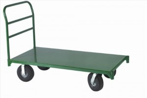 Wesco Industrial Products 272266 12 Gauge Steel Platform Truck, 4000 Pound Capacity, 36 Length x 24 Width Platform