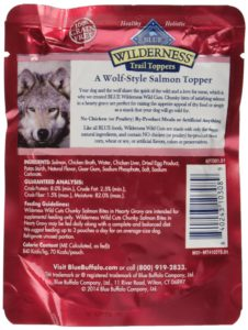 Blue Buffalo Wilderness Trail Toppers Chunky Salmon Bites Dog Food, 24 by 3 oz.