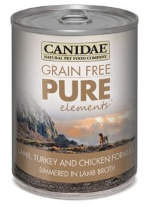 CANIDAE Grain Free PURE Adult Dog Wet Food Lamb, Turkey & Chicken Formula, 13 oz (12-Pack)
