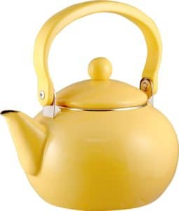 Calypso Basics 2-Quart Enamel-on-Steel Tea Kettle, Lemon Yellow