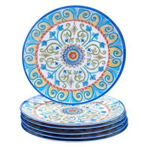Certified International Corp Tuscany Dinner Plate, 11, Multicolored, Set of 6