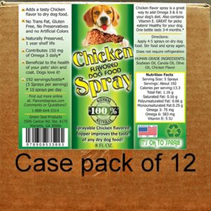 Chicken Flavor Dog Food Topper 12-8 Oz. Bottles