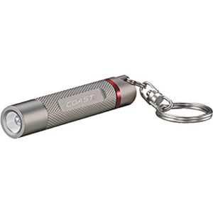 Coast 7839 LED Keychain Flashlight Nano Tac Silver
