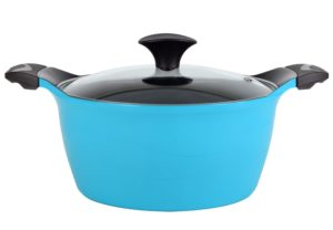 Cook N Home Nonstick Ceramic Coating Die Cast High Casserole Pan with Lid, 4.2 quart