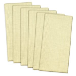 DII 100% Cotton, Oversized Basic Everyday 20x 20 Napkin, Set of 6, Variegated Natural