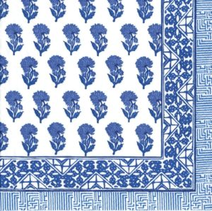 Entertaining with Caspari Batik Cocktail Napkins, Indigo. Pack of 20