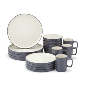 Food & Wine For Gorham Modern Farmhouse 16-Piece Dinnerware Set, Dusk