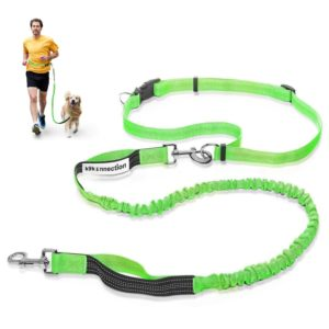 K9konnection Hands Free Dog Leash for Running or Walking Durable Dual Handle & 5 Seam Reflective Stitching