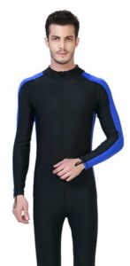 LANBAOSI Men's UPF50+ Swimming Diving Surfing Rashguard Long Sleeve Front Zip Wetsuit