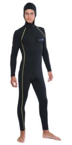 Men's UV Sun Protection Swimwear Stinger Dive Skin + Hood & Gold Stitch