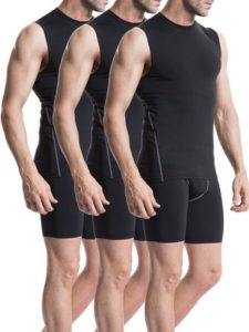 Neleus Men's 3 Pack Sport Compression Under Base Layer Athletic Muscle Tank Top