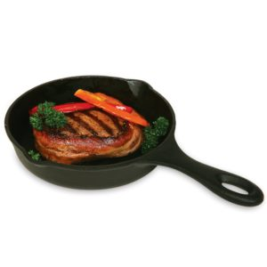 Norpro Pre-Seasoned Cast Iron 6.75 Inch Round Grill Pan