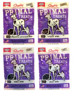 Primal Pet Foods Dog Cat Primal Treats Nibs Variety Pack