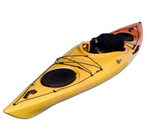 Riot Kayaks Edge 13 LV Flatwater Day Touring Kayak (YellowOrange, 13-Feet)