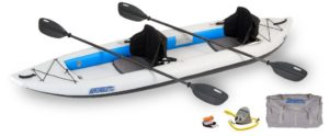 Sea Eagle Fast Track Inflatable 2 Person Kayak Pro Package (385-Feet 12-Feet 6-Inch)
